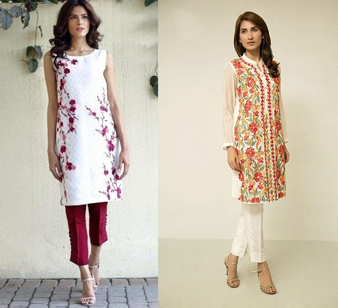Cigarette Pants With Mid Length Kurti