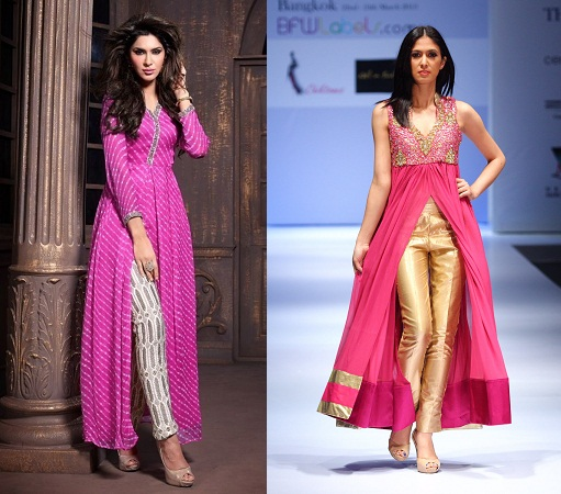 Cigarette Pants with Anarkali Kurti