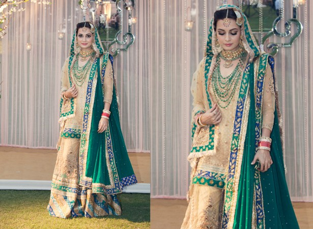 Dia Mirza at her wedding day