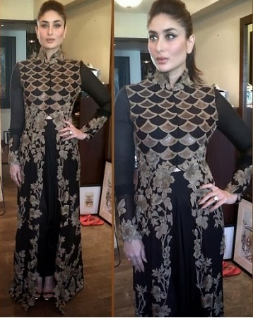Kareena Kapoor Black Dress With Jacket