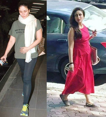 Kareena Kapoor in comfortable dress with sneakers