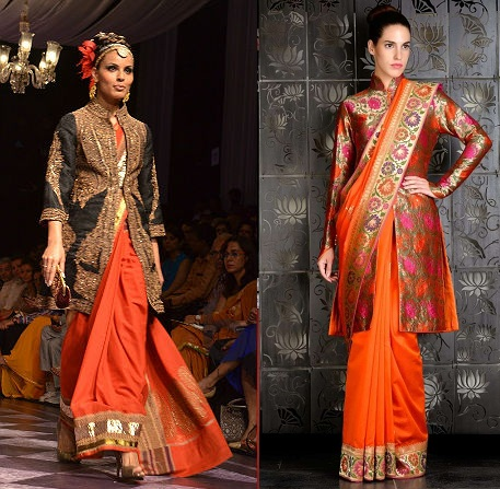 Long Jackets With Sarees