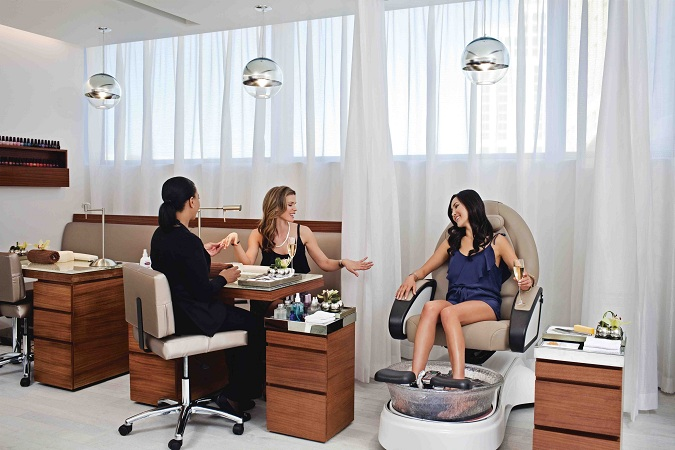 Manicure, pedicure treatments