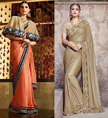 Party Wear Shimmer Sarees