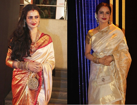 Rekha in jaw dropping sarees