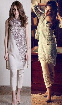 Cigarette Pants with Short Kurti