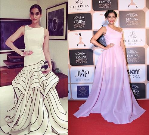 Sonam Kapoor in amazing gowns