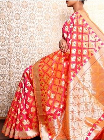 Banarasi organza saree