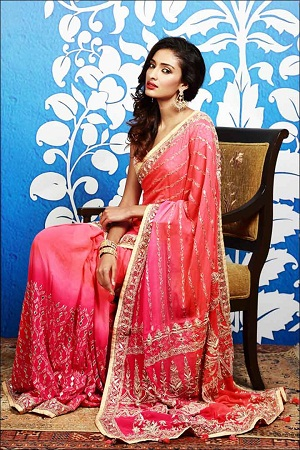 Bridal Gota Work Saree