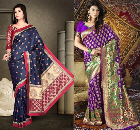Brocade Saree Designs