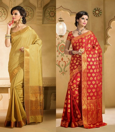 Brocade Silk Sarees
