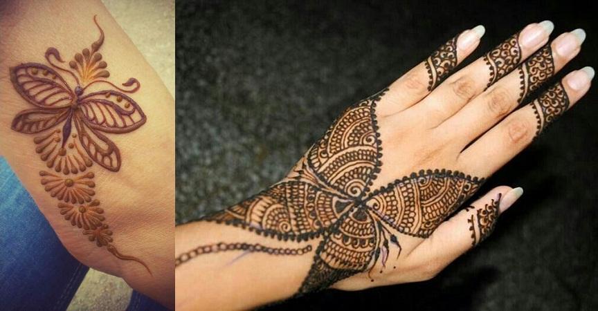 Butterfly Mehendi Design