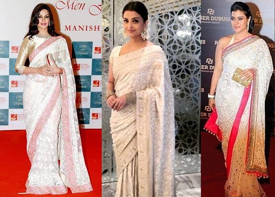 Designer Chikankari Sarees