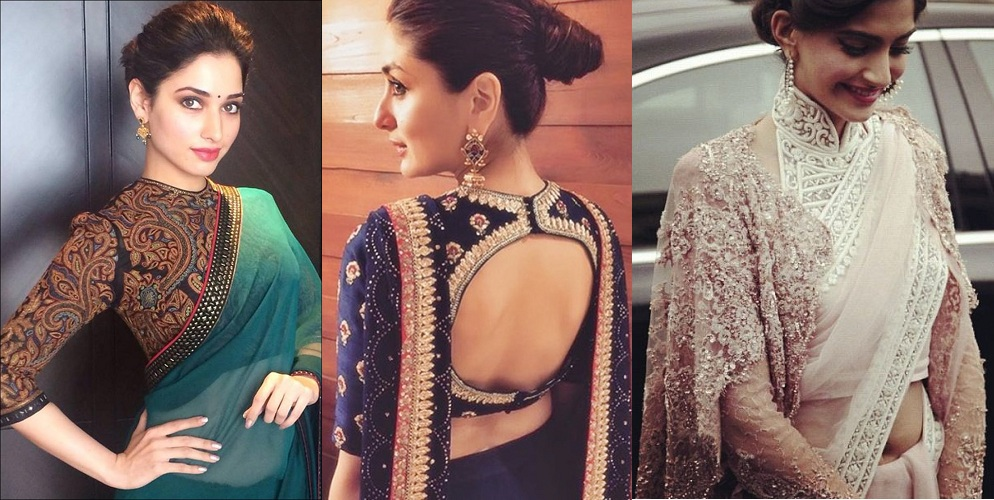 Different Blouse Designs For Designer Sarees