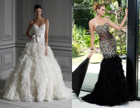 Feather Gowns