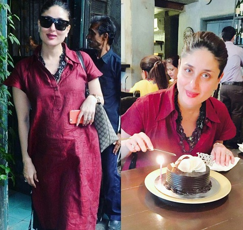 Kareena Kapoor Maroon shirt on birthday