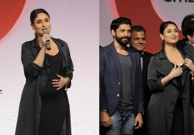 Kareena in black chic dress with jacket