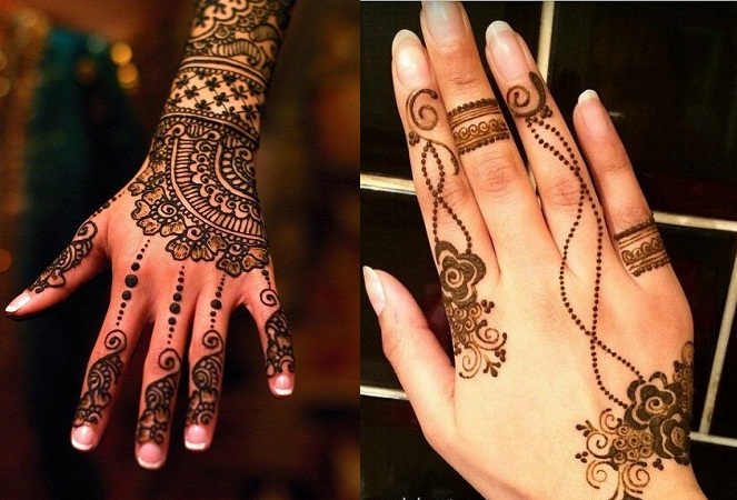 Lacy Dotted Mehendi Design