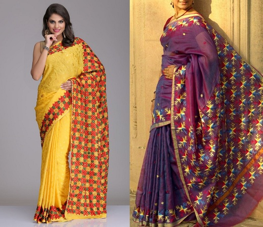 Latest Phulkari Sarees