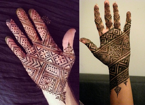 Lines and Patterns Mehendi Design