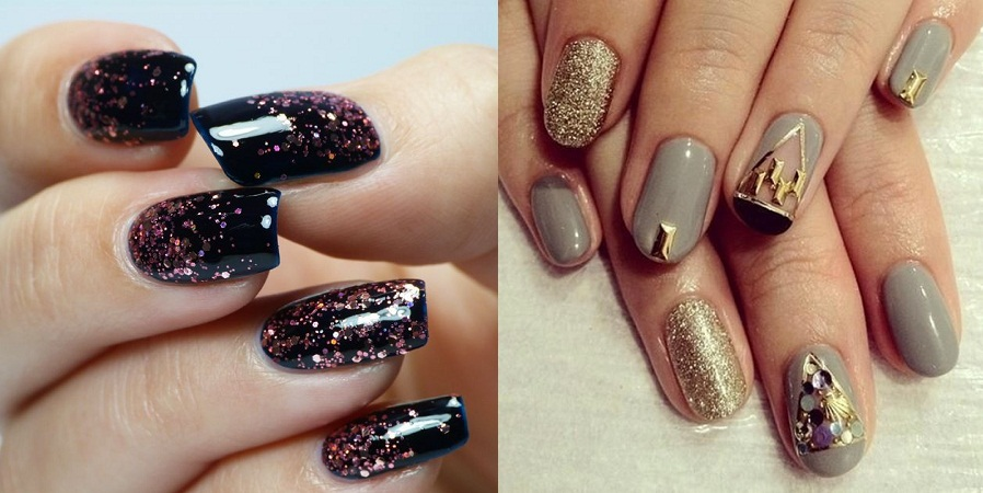 Nail Arts With Glitters
