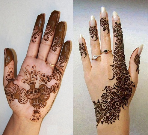 Simple and Exquisite Mehendi designs