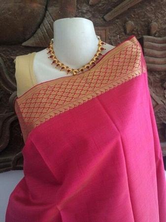 Simple Tussar Silk saree