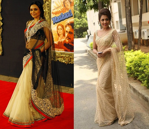 Super Net Sarees By Bollywood Stars