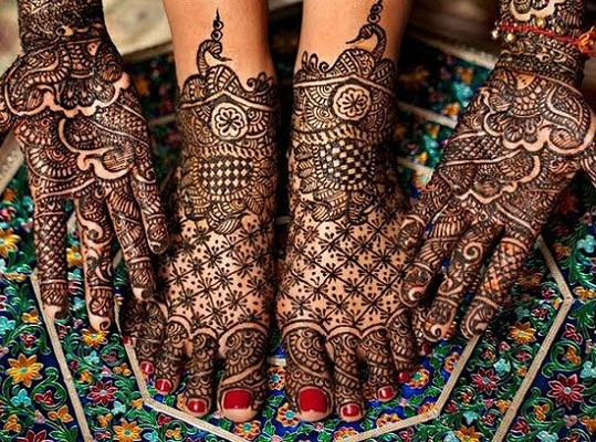 Traditional mehndi design pattern