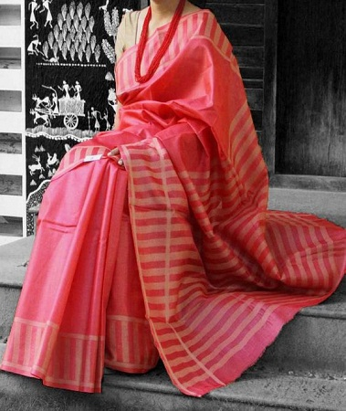 Tussar Silk Saree with woven pattern