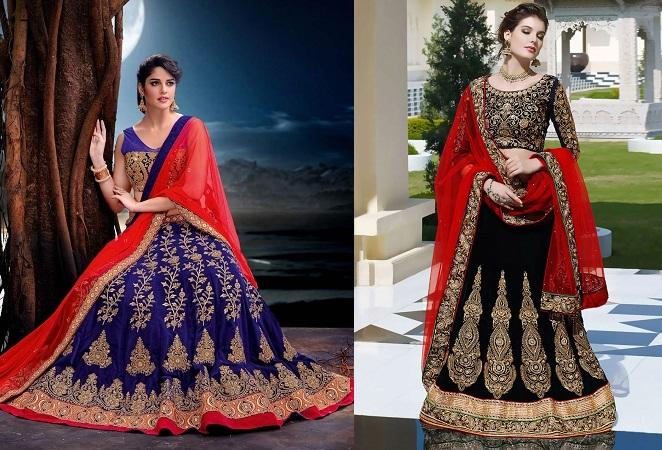 Velvety Designed Chaniya Choli