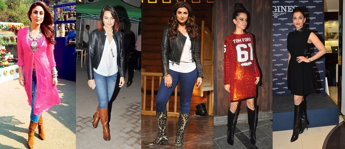 Bollywood Celebs in Boots