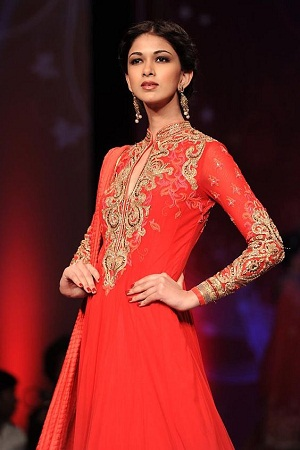 Chinese Collar Salwar Kameez
