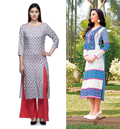 cotton-kurtis-with-side-cut