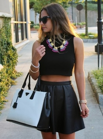 Crop Top with statement necklace