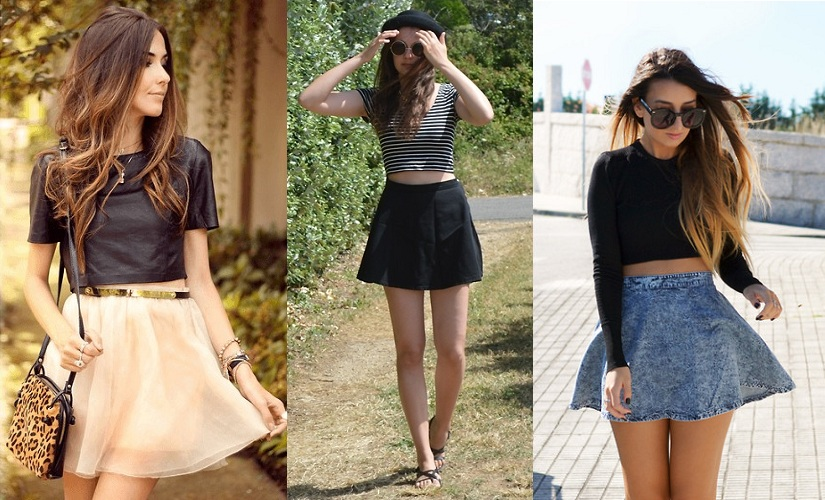 Crop Tops with Circle Skirt