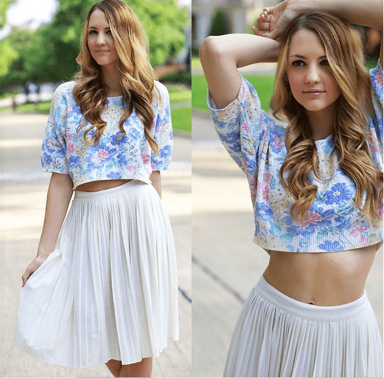 Crop top with circle skirt