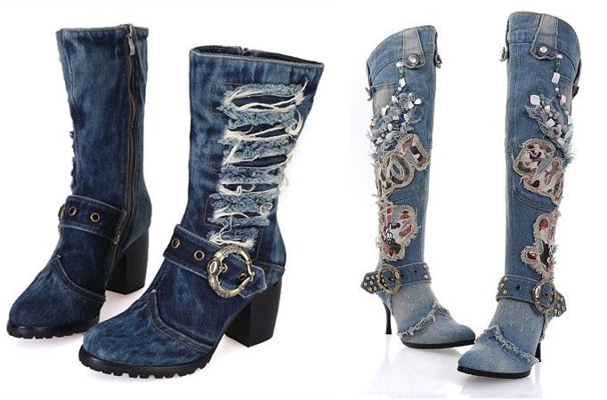 denim-boots
