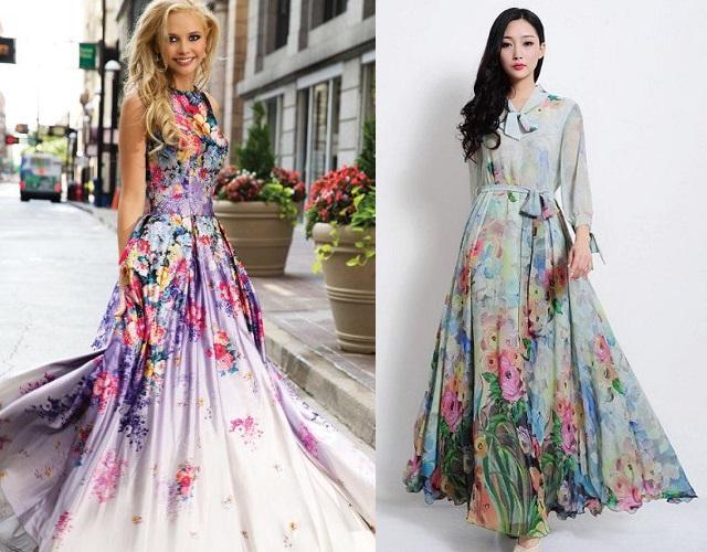 Floral Design Dresses