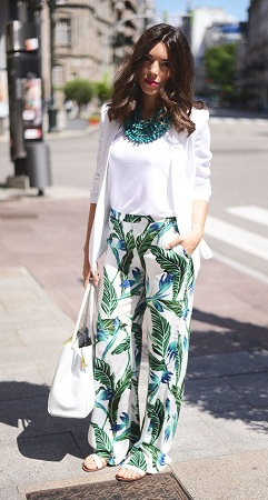 Floral Palazzos with Cotton Tops
