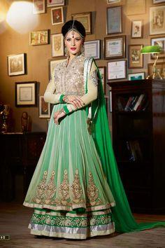 High Neck Flowy Anarkali Suit