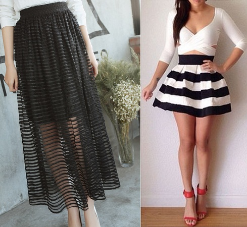 horizontal-lined-bandaged-skirt