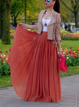 Jacket with Crop Top and maxi skirt