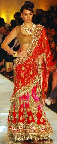 Manish Malhotra Designer Bridal Saree