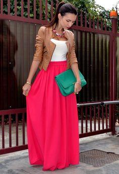 Maxi Skirt and a Short Blazer