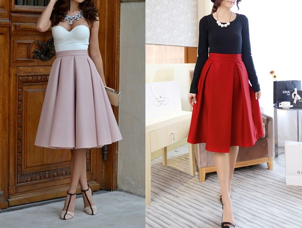 Pain Knee Length Skirt