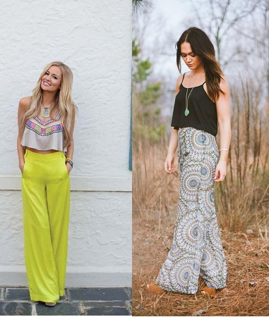 Palazzo Pants With Crop Top
