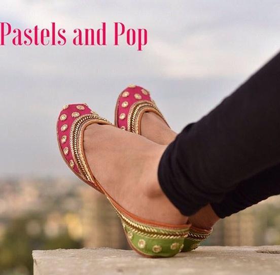 Pastels and Pops Designer Juttis