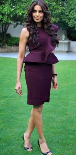 Peplum Top with Pencil Skirt