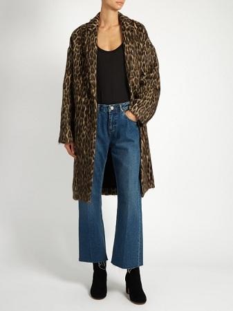 Raey Leopard Print Wool Blanket Coat